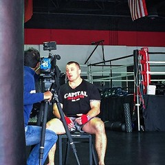 #ABC #News Channel 7 filming Coach Mike today. Shedding light on his story as a service member, and how #capitalmma has been a huge force in overcoming his battle with PTSD. Look for his story to air in the coming months. #capitalfamily #capitalteam #capi