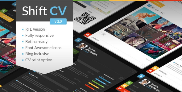 ShiftCV v2.3 – Blog \ Resume \ Portfolio \ WordPress