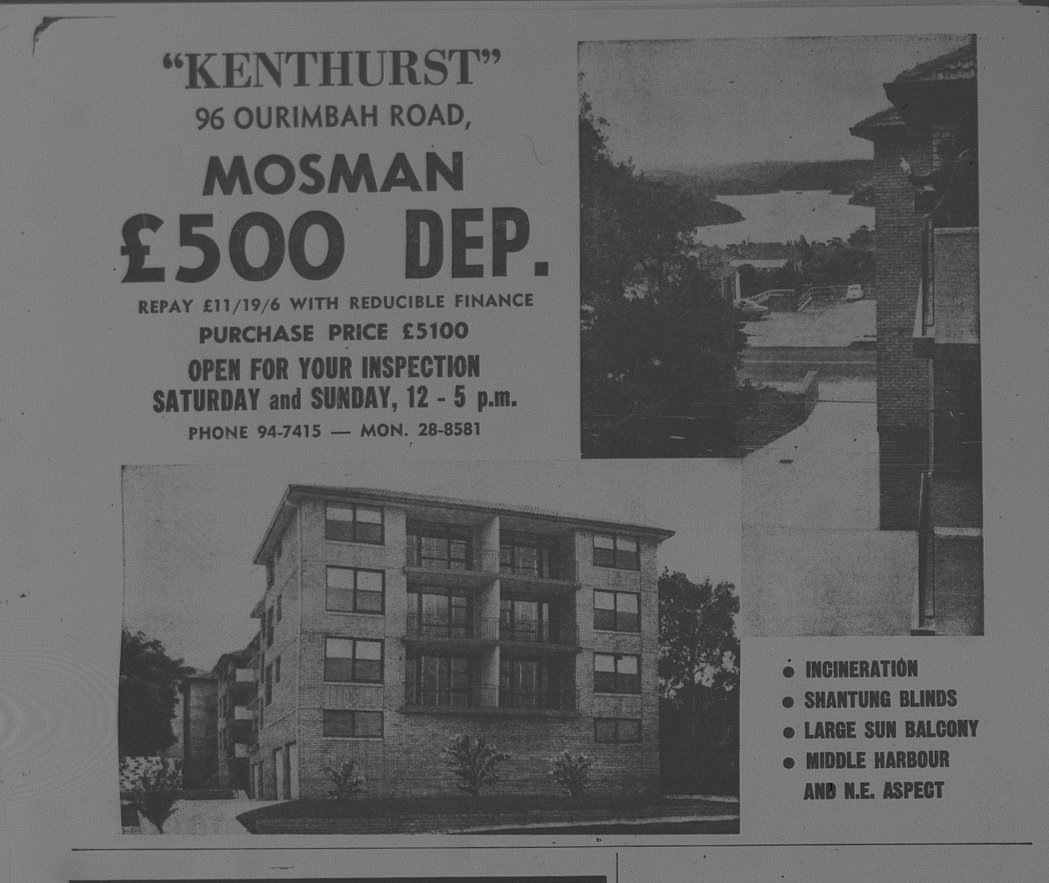 Kenthurst Mosman Ad October 14 1966 the sun 48