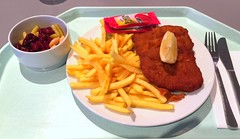 "Pork escalope ""Vienna style"" with french…"