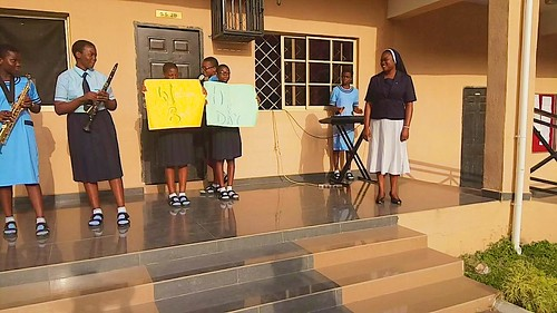 The students of Louisville Girls Secondary School, Gwagwalada, celebrated the Feast Day of St Gertrude the Great on November 16, 2016, in honour of their principal, Sr Gertrude Elelegu SSL (right)