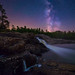 Moon-River-Falls-at-Midnight by Henry w. L