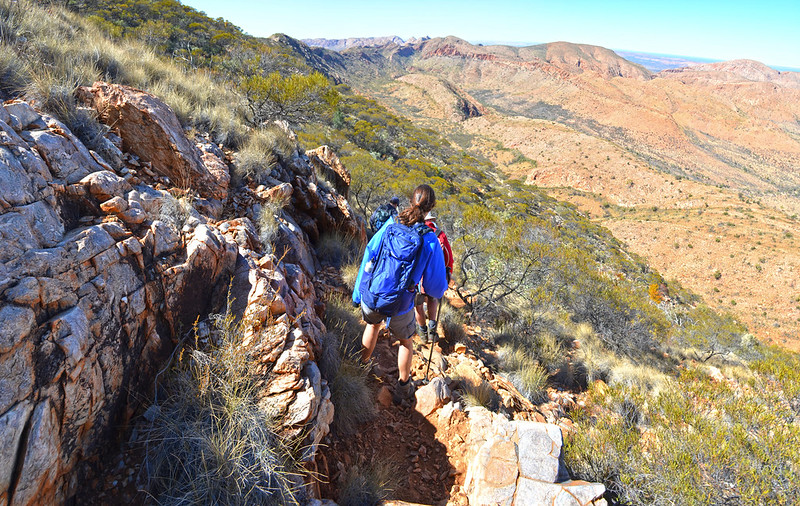 Brinkley Bluff descent - Larapinta Trail