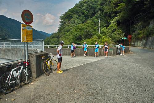 新成羽川ダムにて