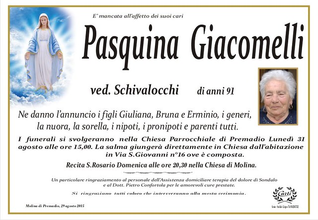 Giacomelli Pasquina