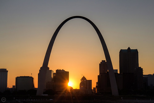 Sunset through the arch