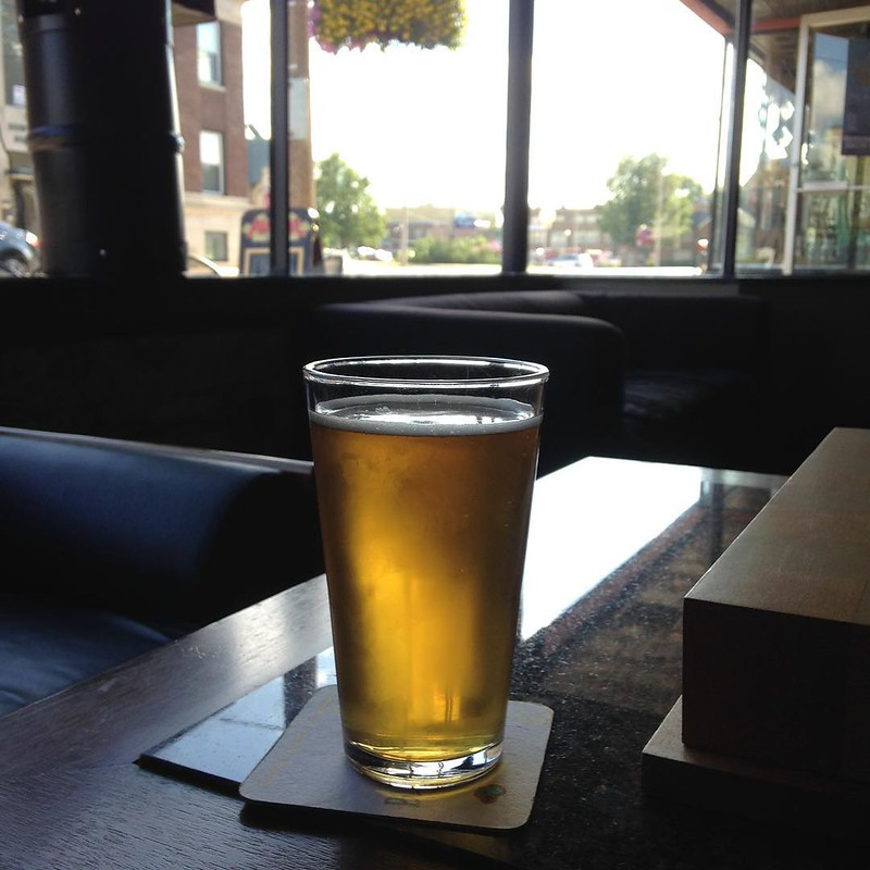 End-of-ride waiting-for-the-train beer in Kenosha