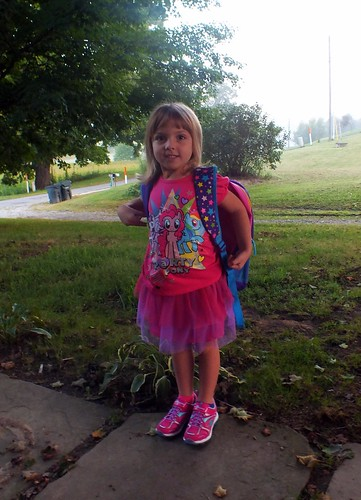 Phoebe on her first day of preschool
