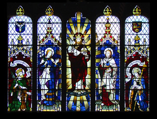 Christ in Majesty flanked by St Edmund, Blessed Virgin, St John and St Felix by Horace Wilkinson, 1938