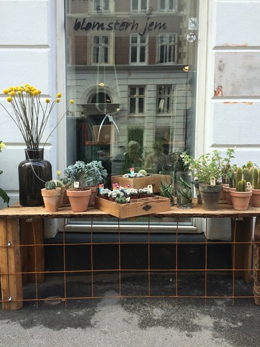 Plant shop sidewalk display Copenhagen