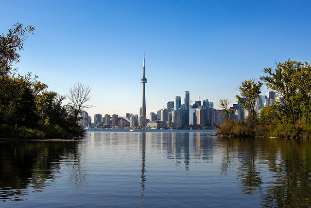 CN Tower from Toronto Island
