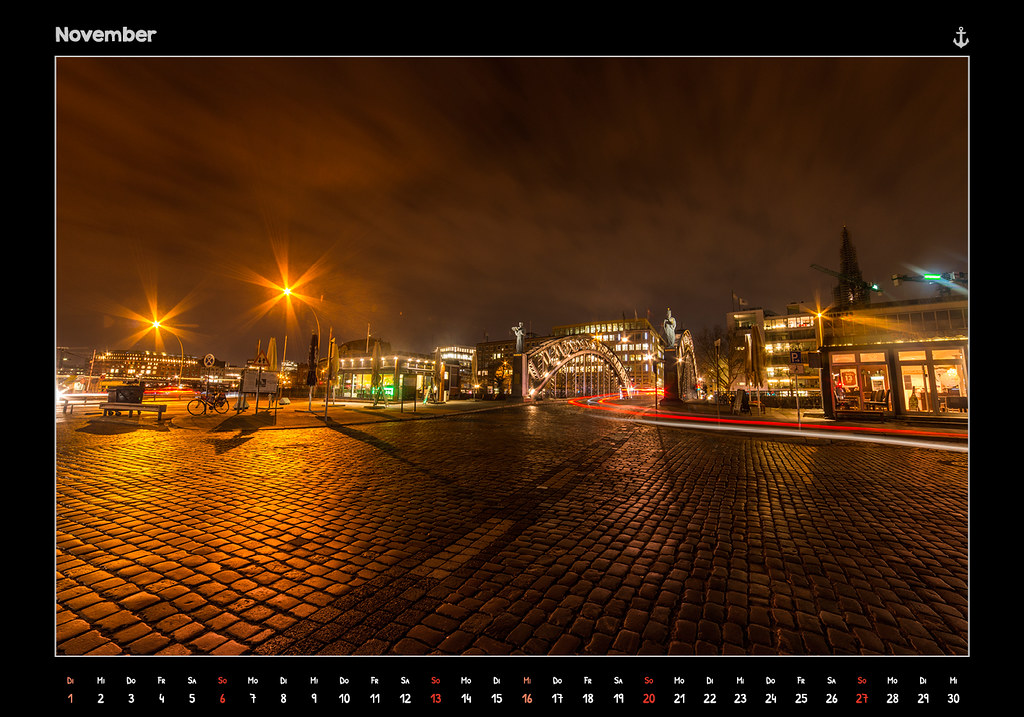 kalender2016_HAMBURG 2016 - FROM DUSK TILL DAWN - KALENDER // NOVEMBER