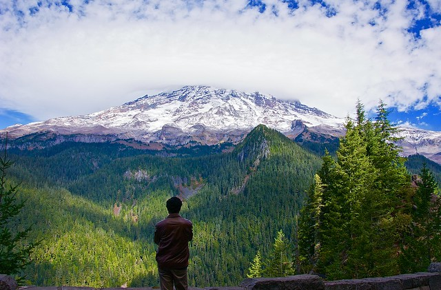 Moment of reflection in Mount Rainer National park