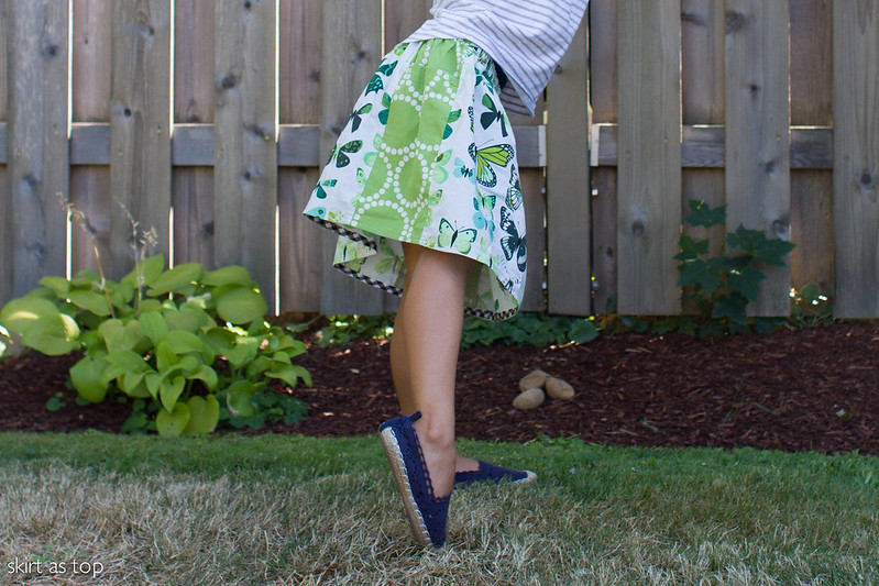 big pocket butterfly skirt