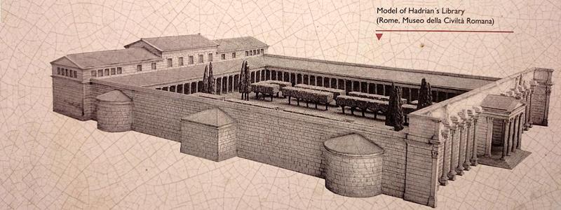 Biblioteca de Adriano Reconstrucción