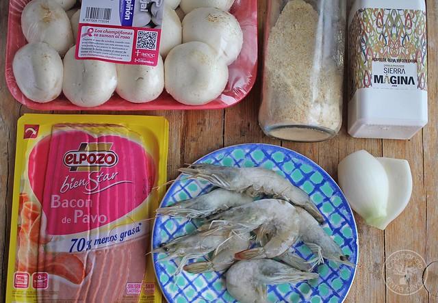 Champiñones rellenos bacon y langostinos www.cocinandoentreolivos.com (7)