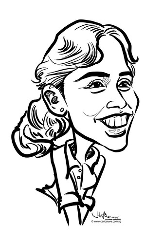 digital caricature live sketching for Standard Chartered Bank 2015 - 14