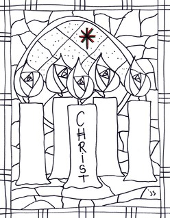 Christmas coloring page – Advent candles – Coloring Page | 319x248
