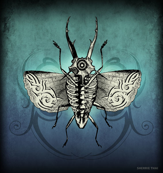 Horror Moth art by Sherrie Thai of Shaireproductions