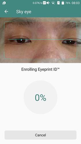 เทคโนโลยี EyeprintID ใช้สแกนรูปแบบดวงตา