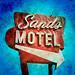 sands motel / prcssd. fresno, ca. 2013. by eyetwist