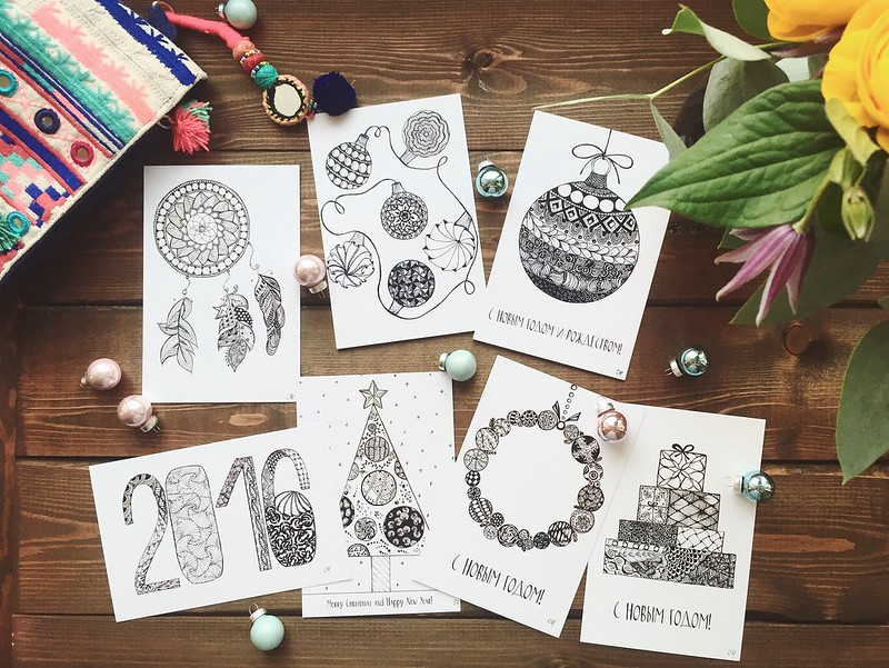 Postcards with my drawings