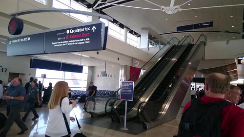 Departure gates of Detroit DTW airport