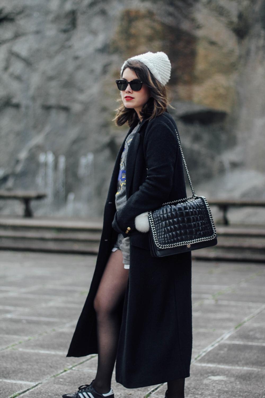 long black coat from trafaluc