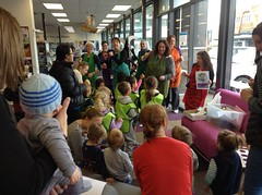 Waiata group visit to Central Library Peterborough