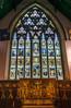 Beautiful artwork and Stained Glass inside Trinity Anglican Church, St. John, New Brunswick