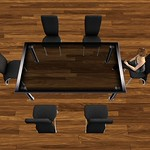 Modern Dining Table Set Black 3D Models