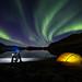 Fatbike camping in Burfjord by Dan F Skovli