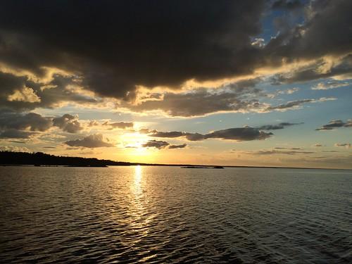 sea sky nature water clouds sweden