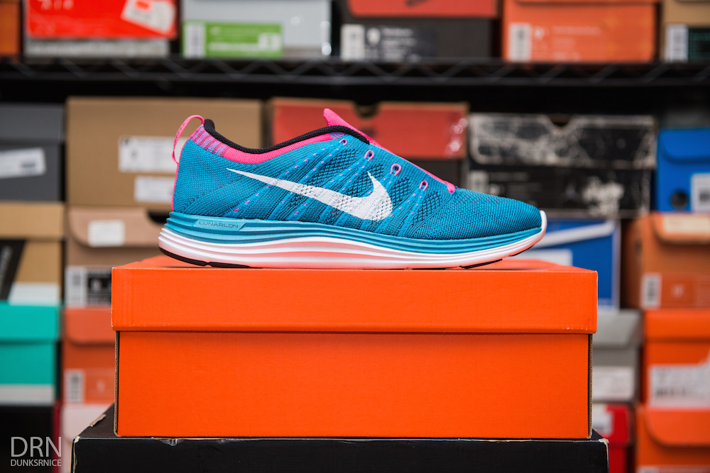 Turquoise & Pink Lunar Flyknit One's.