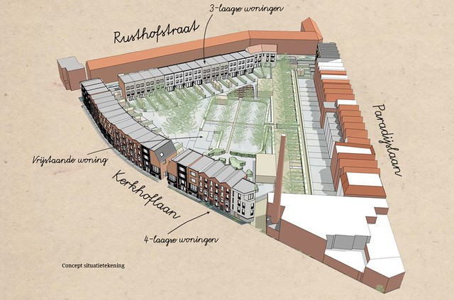 Paradijshof Rotterdam nieuwbouw concept situatie