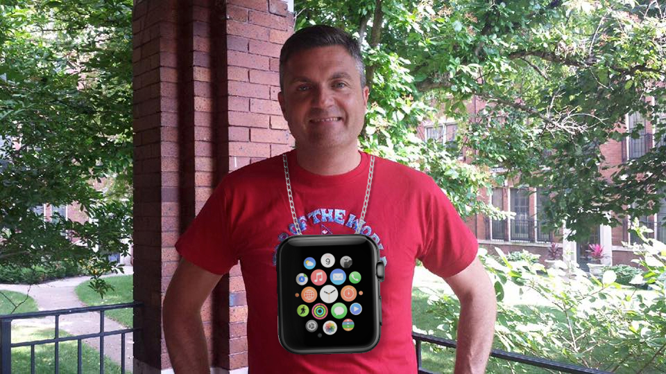 Me wearing The Flava Flav Limited Edition Apple Watch
