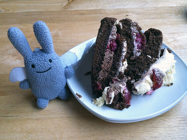 Angel Bunny sized cake at the Covesea cafe