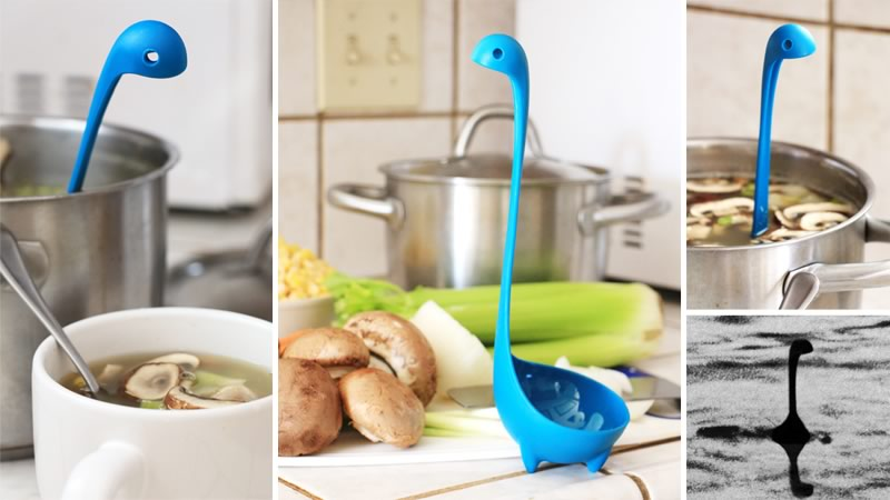 Nessie Ladle,尼斯湖水怪,湯杓,居家,生活,廚房用品,雞湯,食譜,蔬菜湯