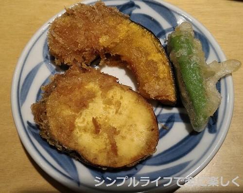 かつくら、野菜天ぷらとカツ