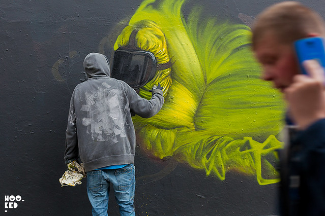 French street artists Bom.k hits the streets of London_PHOTO_©2015_MARK_RIGNEY