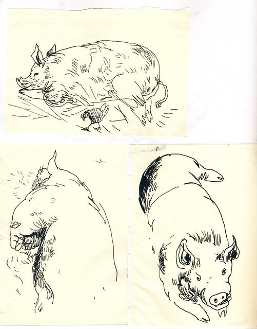 Sketchbook #92: Pigs