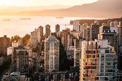 Orange glow over Vancouver's West End