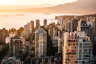Orange glow over Vancouver's West End | by vancityvisual