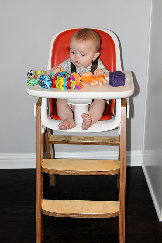 Sitting in the high chair