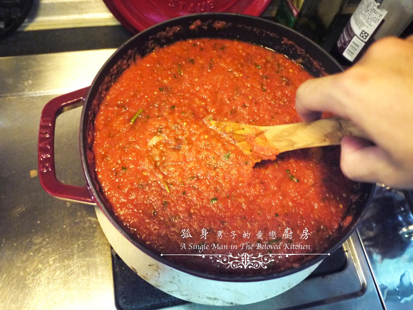 孤身廚房-義大利茄汁紅醬罐頭--自己的紅醬罐頭自己做。不求人17