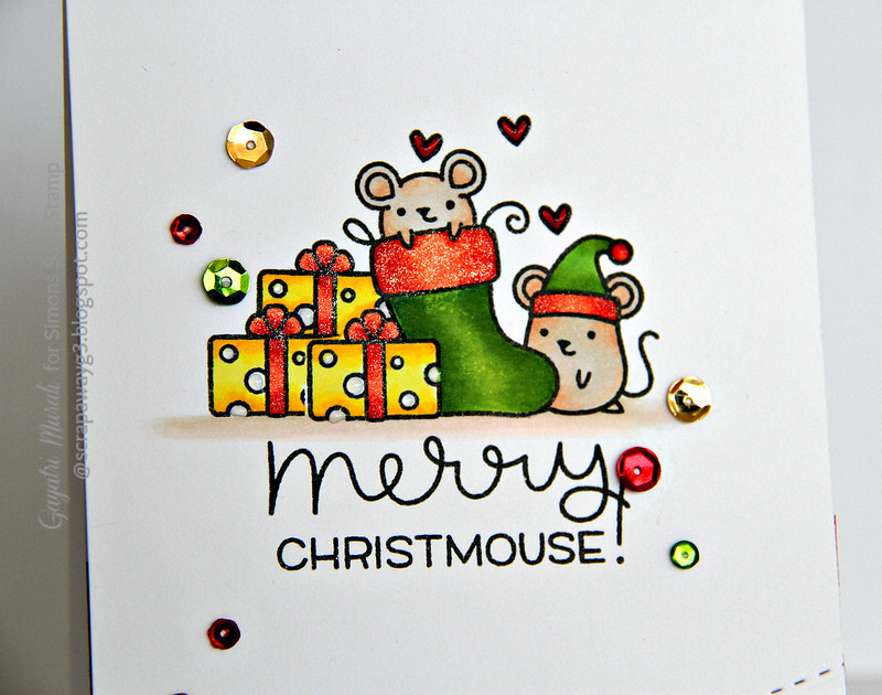 Merry Christmouse closeup #1