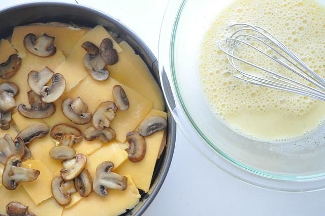Cheddar-Mushroom Puff