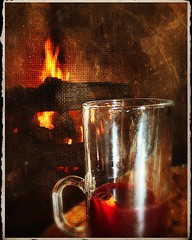 Hot mulled wine and a fire. Ahh....