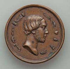 Bronze rebus medal obverse