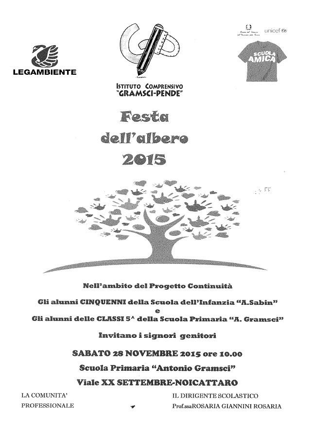 Noicattaro. Festa dell'Albero 2015 Gramsci intero
